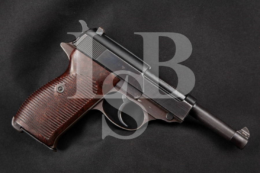 """Walther Model P38, P-38 ac-44, Matching Numbers, SHARP Blue 5"""" WWII DA Semi-Automatic Pistol, MFD 1944 C&R"""