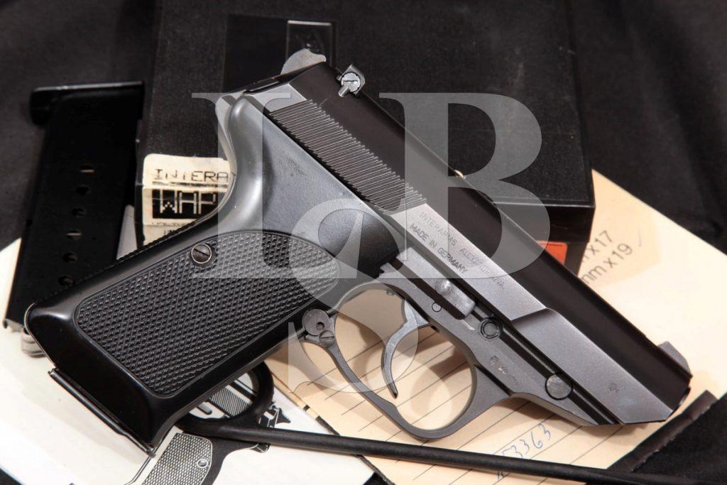 Walther Model P5 Compact, Blue/Matte Black 3 1/8 SA/DA Semi-Automatic Pistol & Box, MFD 1992 9mm Luger