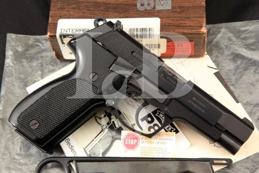 """Walther Model P88 P-88, Blue & Matte Black 4"""" DA/SA Semi-Automatic Pistol, Box & 2 Mags MFD 1990"""