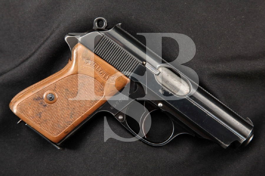 "Walther Model PPK Pre-War Commercial, Rare 7 Digit Serial No., Blued 3 5/16"" DA Semi-Automatic Pistol, MFD 1937 C&R"