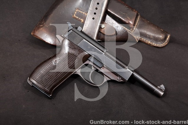 Walther P38 P-38 WWII AC-43 1st Var. Nazi Marked Semi-Auto Pistol, Mags & Holster, 1943 C&R 9mm