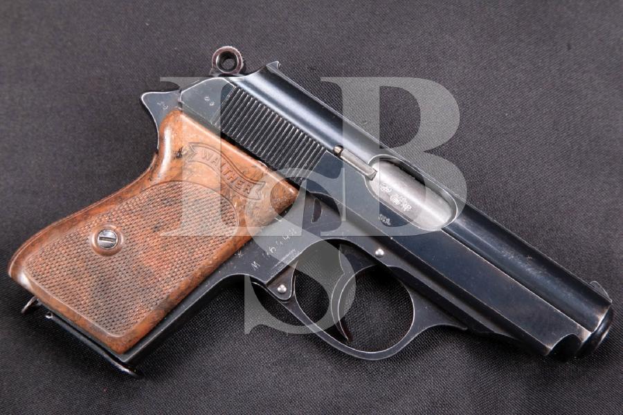 """Walther PPK, RARE English Proofed Pre-War W Suffix Model, Blue 3 3/8"""" DA Semi-Automatic Pistol, MFD 1930-39 C&R"""