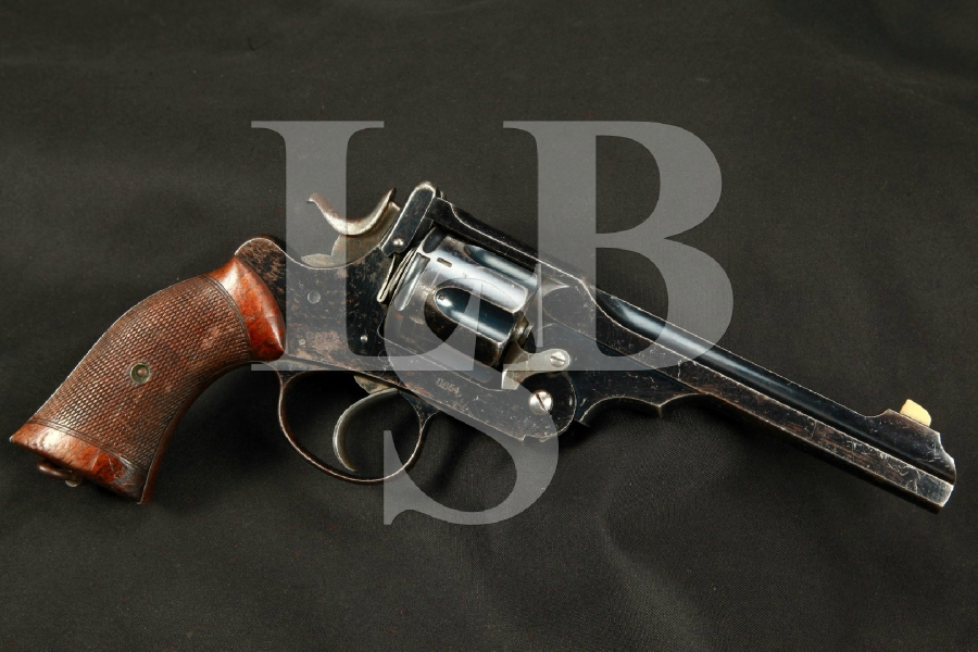 """Webley & Scott W.G. Army Model of 1896, Blue 6"""" Matching Double Action Revolver, MFD 1898 Antique"""