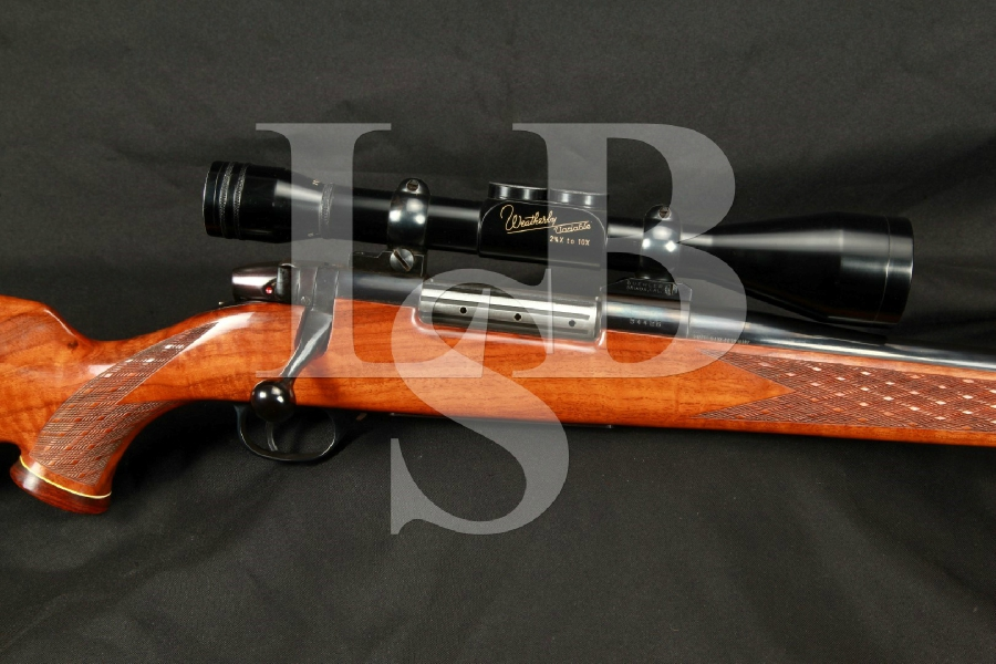 "West German J.P Sauer Weatherby Mark V Deluxe Blue 24"" Magnum Bolt Action Rifle, MFG 1961 C&R"