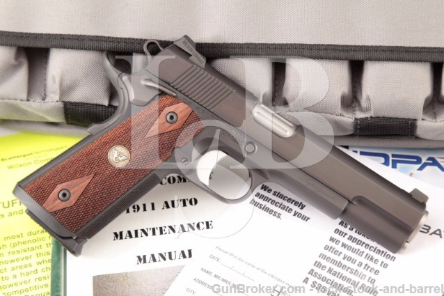 "Wilson Combat Tactical SG Supergrade 1911 5"" Semi Automatic Pistol, 6 Mags, Dog Tag & Soft Case"