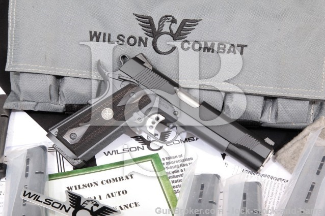 "Wilson Combat Tactical Supergrade Super Grade 2017 Black/Gray 5"" Semi-Auto 1911 Pistol & Case, 45 ACP"