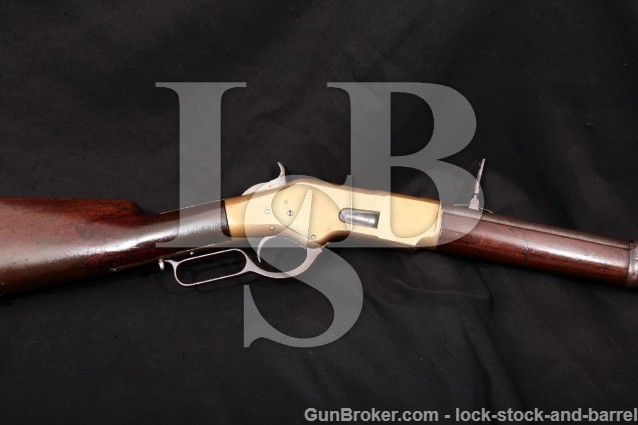 "Winchester 1866 Musket Saber Bayonet Lug 3rd Model 27"" Lever Action Rifle, 1872 Antique .44 Henry"