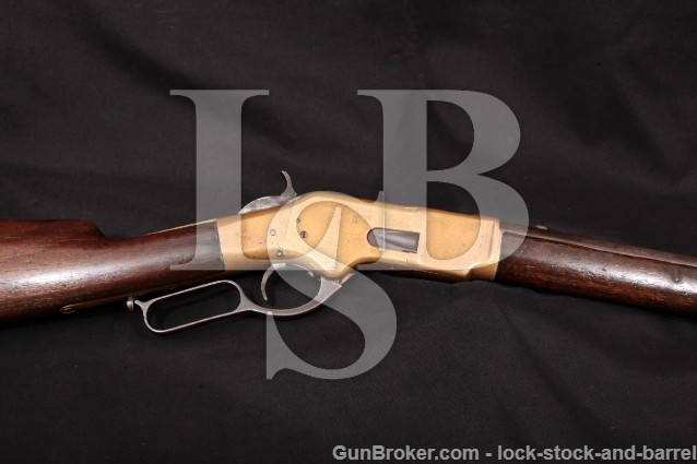"Winchester 1866 Yellowboy 3rd Model Saddle Ring 20"" Lever Action Rifle, 1872 Antique .44 Henry"