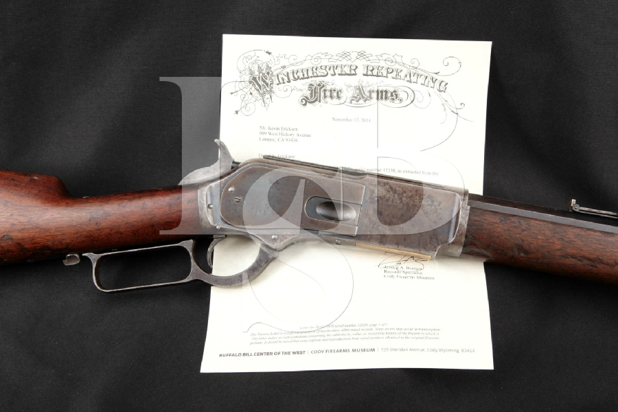 """Winchester 1876 Second Model Lever Action Rifle, Blue / Case 28"""" Lever Action, Tube Fed Rifle, MFD 1881 Antique"""