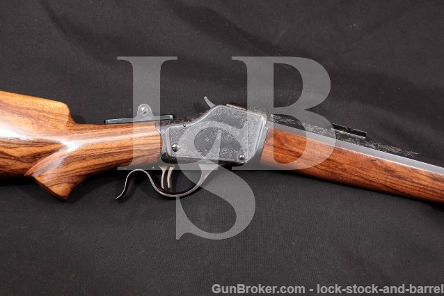 "Winchester 1885 High Wall Falling Block .40-65 Win Engraved 30"" 1/2 Round Octagon Target Rifle 1889"