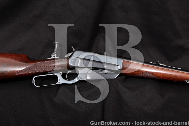 "Winchester 1895 95 Carbine Lever Action Rifle C&R Blue 22"" Box Magazine, MFD 1912 .30-40 Krag Army"