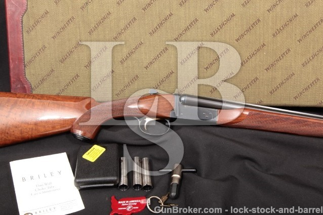 "Winchester 23LD 23 Light Duck 1 of 500 1985 20 GA 28"" Briley Choke SXS Double Barrel Shotgun & Case"