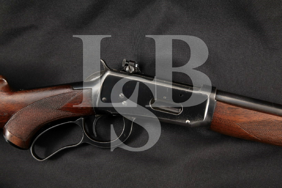 """Winchester 64 M64 Deluxe & Lyman Model 66 Sight, Pre-1964, Blue 24 ¼"""" Lever Action, Tube Fed Rifle, MFD 1949 C&R"""