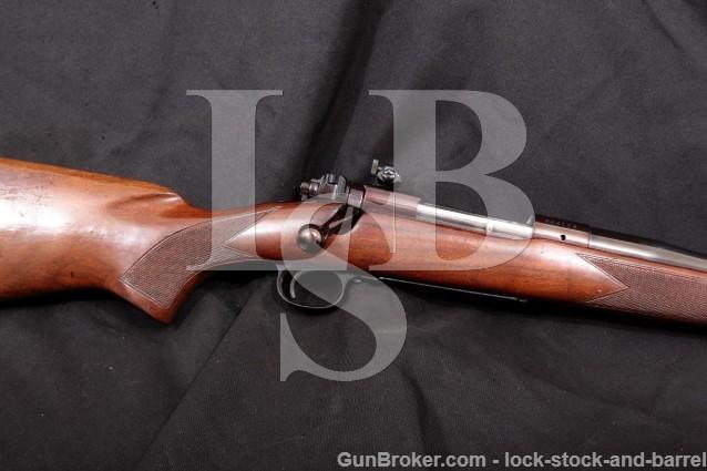 "Winchester 70 Pre-1964 Blue 23"" .375 H&H Magnum Bolt Action Rifle & Muzzle Brake, MFD 1959 C&R"