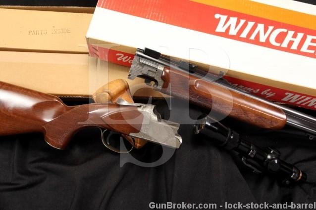 Winchester Grand European XTR 9.3x74R O/U Over Under Double Rifle & Leupold Scope, Box & More