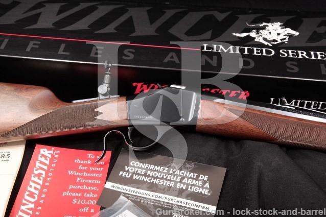 """Winchester Miroku 1885 Davidsons Limited Edition Blue 28"""" Single Shot Rifle & Box, 2009 .405 Win."""