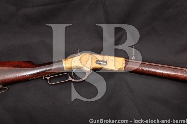"""Winchester Model 1866 2nd Model Octagonal Rifle 24 1/4"""" Lever Action Rifle, '66, MFD 1869, Antique"""