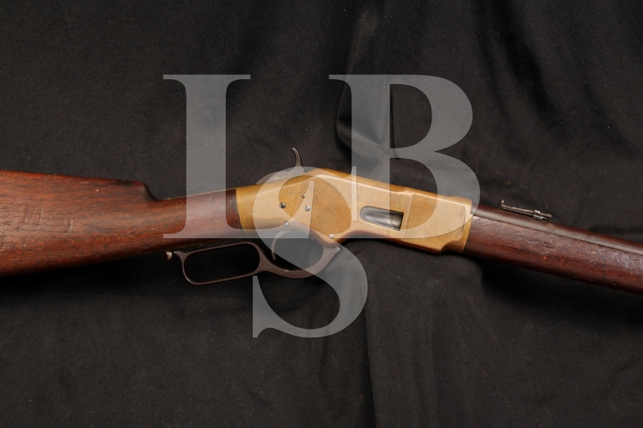 Winchester Model 1866 66 4th Model .44 Henry Rimfire Lever Action Rifle, Saddle Ring Carbine S.R.C. SRC - Antique