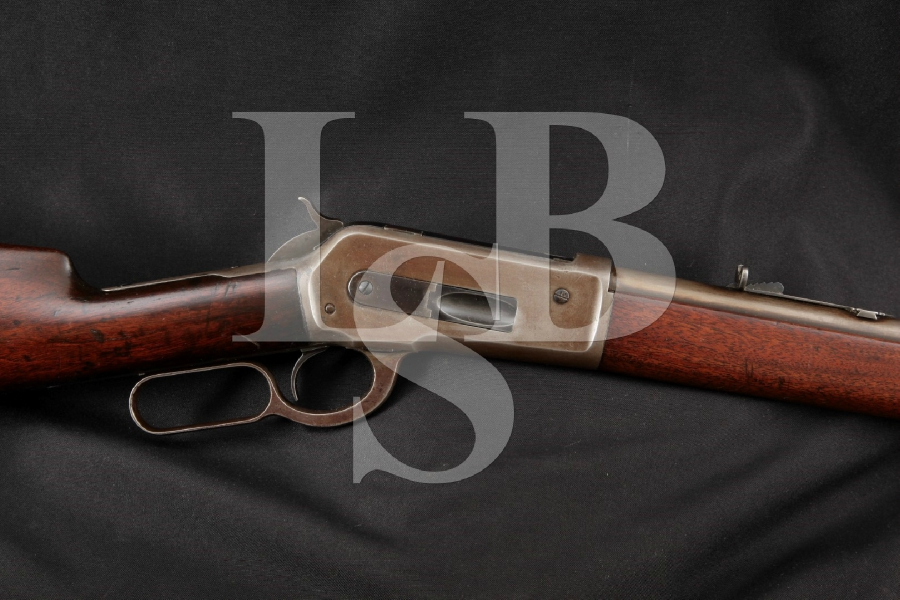 "Winchester Model 1886, Blue 26"" Round Barrel Lever Action Rifle, MFD 1889 Antique"