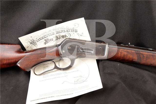 "Winchester Model 1886 Deluxe Fancy Wood .45-70 Gov Set Trigger, Octagon 26"" Lever Action Rifle, 1888"
