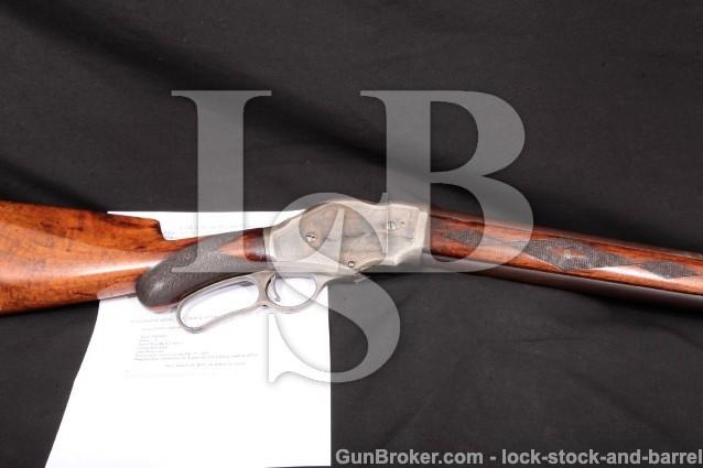 Winchester Model 1887 Deluxe, Fine Damascus 10 Ga. Lever Action Shotgun, XX Checkered Wood, MFD 1893
