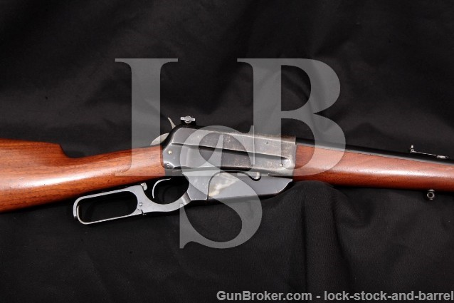 "Winchester Model 1895 95 Sporting Rifle 1915 C&R Blue 24"" Lever Action & Lyman Sight .405 Win."