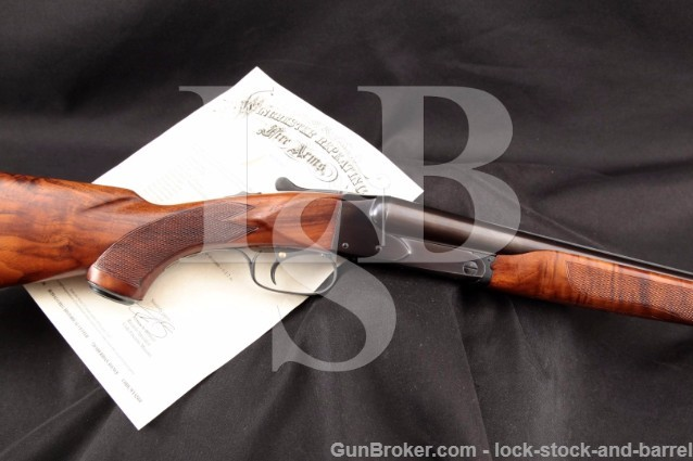 "Winchester Model 21, Blue 28"" 16 Gauge / Ga. SxS Side By Side Shotgun & Letter, MFD 1948 C&R"