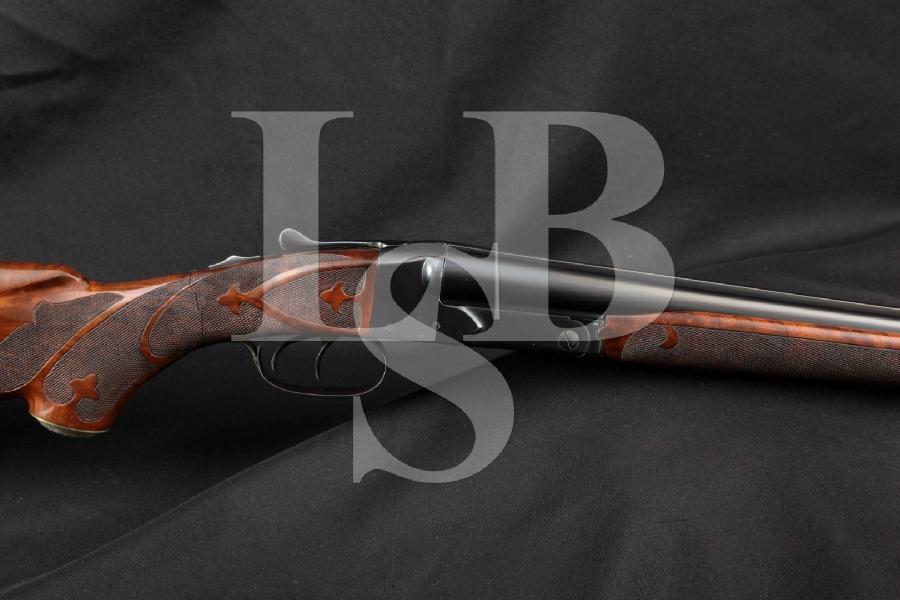 "Winchester Model 21 Field Grade 21-B Stocks, Blue Solid Rib 28"" 20 Gauge Pre-WWII Side by Side SXS Shotgun, MFD 1936 C&R"