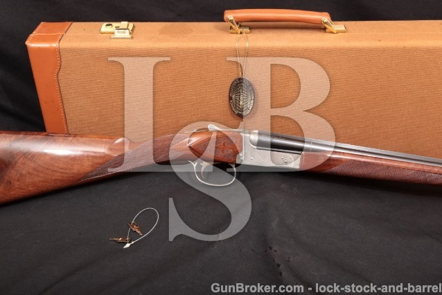 Winchester Model 23 Golden Quail 1 of 500 .410 SxS Solid Rib Side-By-Side Shotgun & Case, 2002