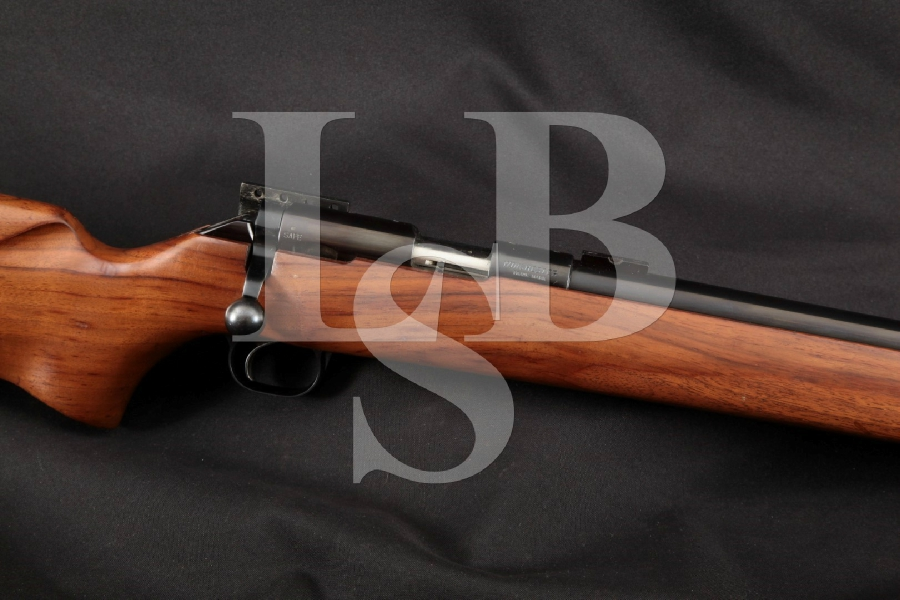 "Winchester Model 52E 52 E International Prone, Blue 28"" Single Shot Benchrest Bolt Action Rifle, MFD 1969"
