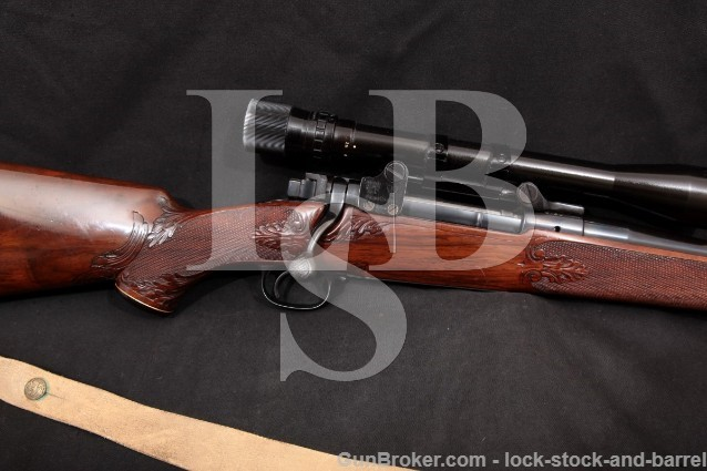 Winchester Model 70 Custom Pre-64 Pre-War Engraved .257 Roberts Bolt Action Rifle & Scope, MFD 1937