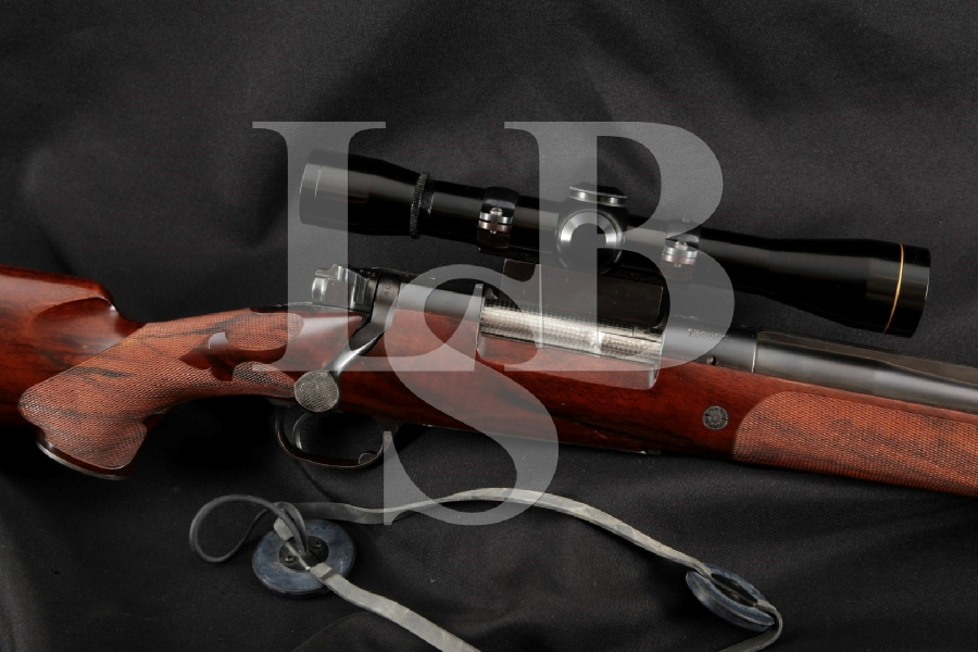 """Winchester Model 70 M70 Customized by Griffin & Howe, Blue 22"""" Bolt Action Rifle & M8-6X Leopold Scope, MFD 1949"""