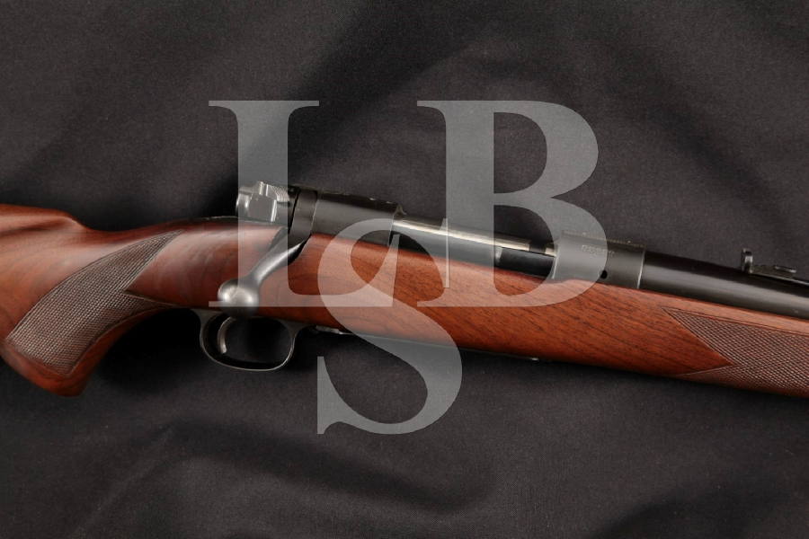 "Winchester Model 70 M70, Sharp Nice Wood Pre-1964 Blue 24"" Bolt Action, Internal Mag. Fed Rifle, MFD 1948 C&R"