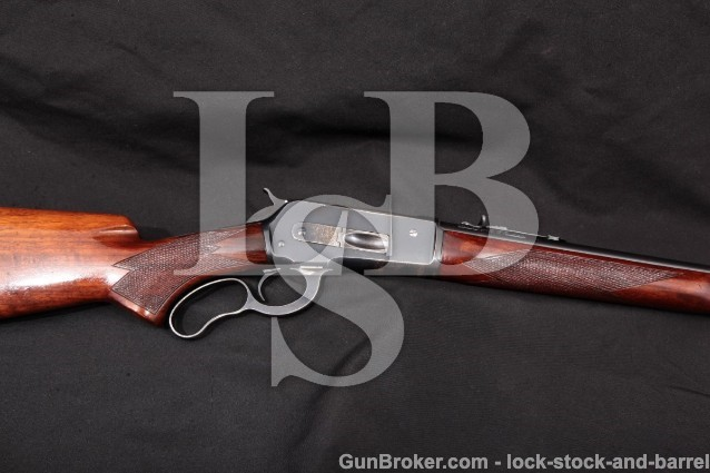 "Winchester Model 71 24"" .348 Win. Rifle, MFD 1939 Blue 24"" Round Lever Action Rifle (Like 1886) C&R"