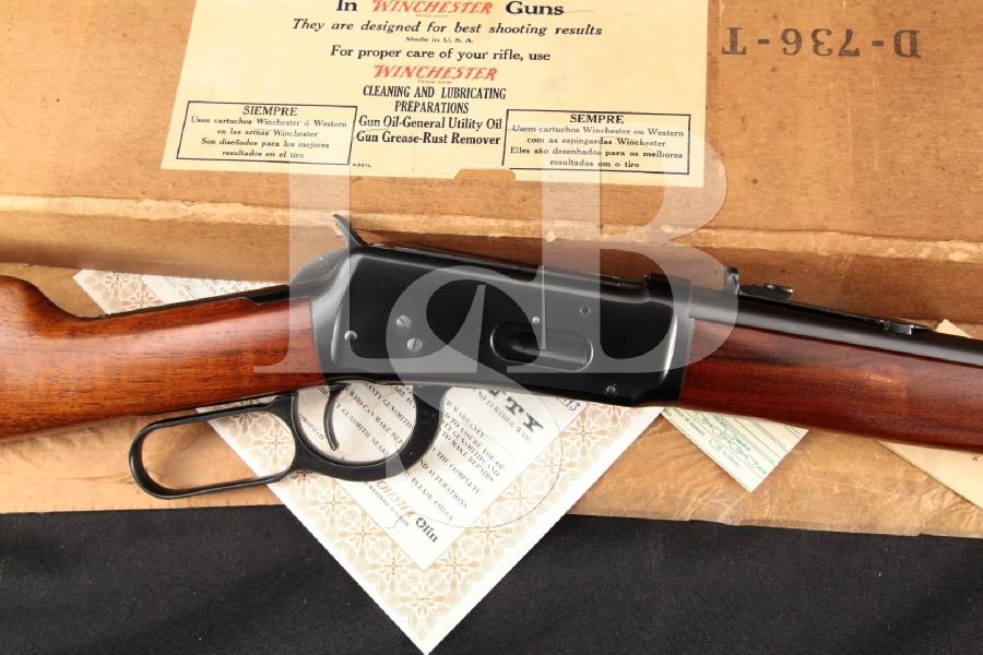 "Winchester Model 94 1894 Sporting Carbine, Blue 20"" WWII-Era Lever Action Rifle & Box, MFD 1940 C&RWinchester Model 94 1894 Sporting Carbine, Blue 20"" WWII-Era Lever Action Rifle & Box, MFD 1940 C&R"