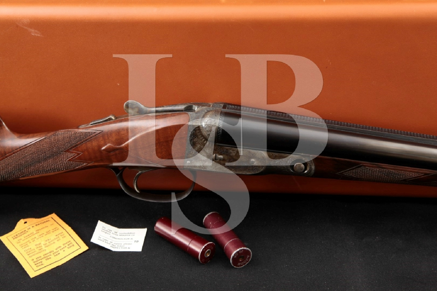 "Winchester (Olin-Kodensha) Parker Reproduction DHE Grade, Engraved Blue & Case Colored 26"" Side by Side SxS Shotgun"