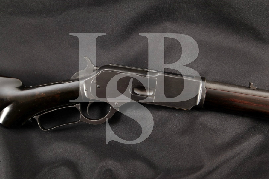 """Winchester Special Order 1876 2nd Model Carbine, Restored Blue Round 22"""" Lever Action, Tube Fed Rifle, MFD 1881 Antique"""