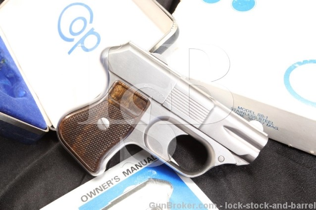 COP Model SS-1 .357 Magnum 4-Shot Four Barrel Stainless Steel Derringer Pistol - Box & More